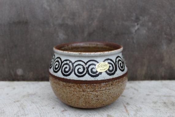 Scandinavian Vintage Pottery Ceramic Bowl Swedish Vintage Szilasi Visby Keramik Bowl