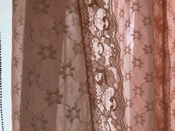 Scandinavian Vintage Pink Lace Dressing Gown, Bri… - image 5