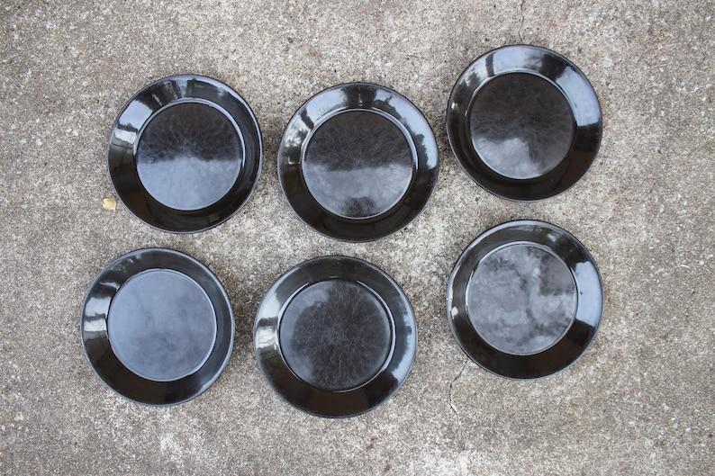 Scandinavian Design Arabia of Finland TEEMA Black Salad Plate Designed by Kaj Franck
