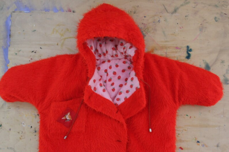 574ca05e7d30 Soviet Baby Sleeping Bag Red Faux Fur Baby Bunting Bag