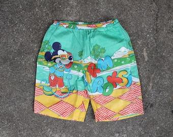 Soviet Vintage Boys Shorts, Mickey Mouse Short Pants Cotton Boy Summer Clothes