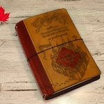 Harry Potter marauders map Leather Travelers journal MANY SIZES hogwarts notebook Midori  Fauxdori  planner A5, B6 slim, wide, extra wide