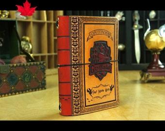 SMALLER size Hogwarts House travelers notebook,Leather Notebook Cover,Gryffindor,Ravenclaw,Hufflepuff,Slytherin,hogwarts,house,Rubeus Hagrid