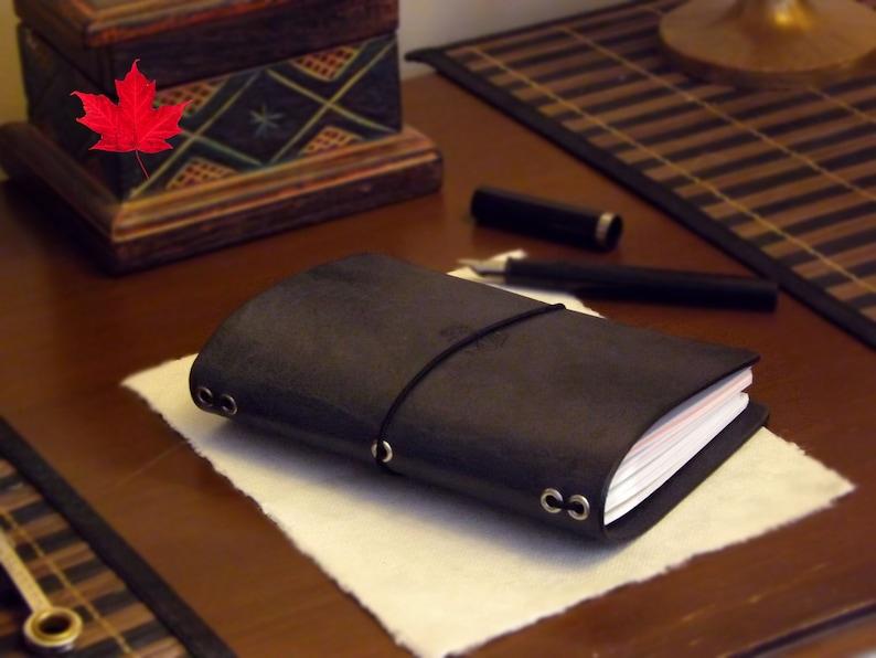 Leather A6 size  Midori Travelers Notebook  Molskine  image 0