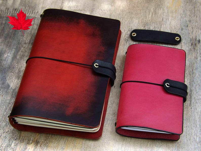 Elastic string protector for leather notebook elastic journal image 0