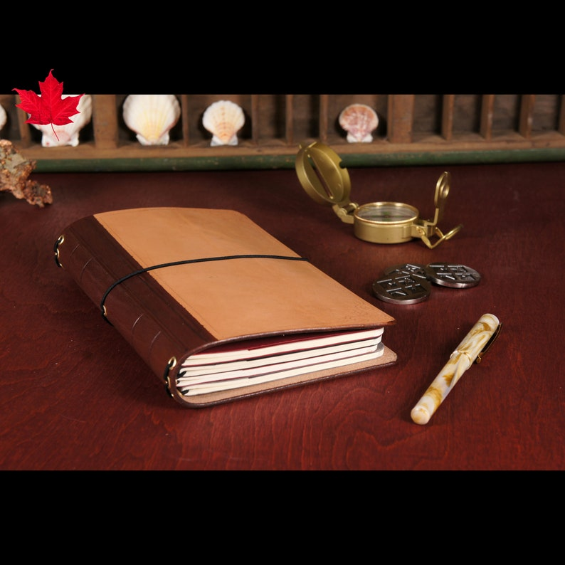 LARGER Old SoulLeather Travelers Notebook CoverLeather image 0