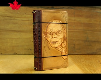 My Precious, Gollum,Sméagol,Trahald,lord of the rings travelers notebook,Leather Travellers Notebook Cover,lotr ,middle earth, hobbit