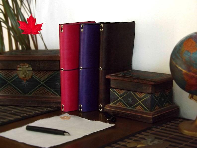 Leather Travelers Notebook 4 SIZES for  Midori  Molskine  image 0