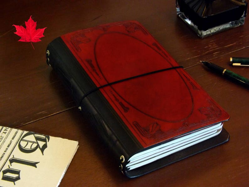 The Great Gatsby Leather Travelers notebook MANY SIZES journal image 0