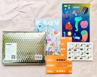 κλαν Furniture Catalog-zine, postcard, sticker and poster