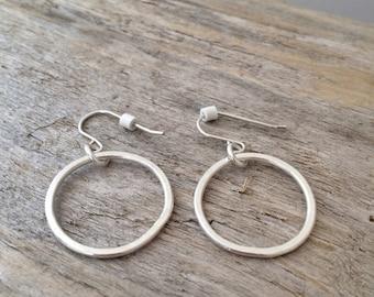 Fine Silver Circle Earrings