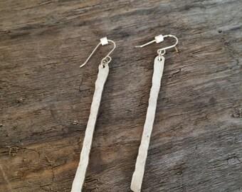 Single Fine Silver Earrings