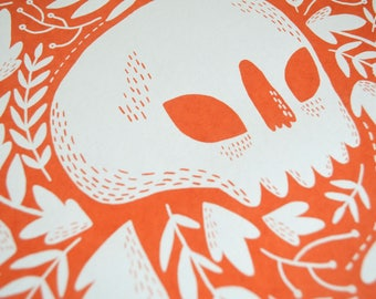 Botanical Skull Limited Edition Screen Print