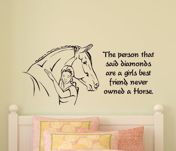 Girls Bedroom Horse Wall Decal Pony Quote Sticker Teen Room Western Wall  Decor Wall Words College Dorm Room Childs Room 21 X 46 inches