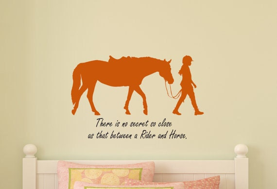 pony horse wall decal horse rider quote girls room sticker | etsy