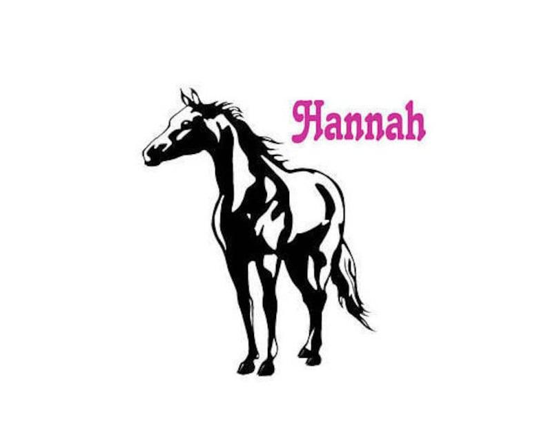29ac4edd77091 Naklejki na ścianę konia dziewczyny indywidualny kucyk ściana