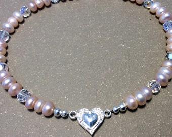 Pearl collar, pearl cat collar, pearl dog collar, beaded collar, fancy collar