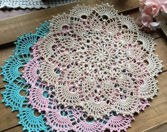 """Crochet doily, different colors to choose from, 8 1/2"""""""