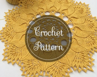 Court of the Sun Doily Pattern, PDF Digital Download