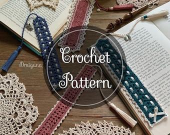 Charming Bookmarks Crochet Pattern, 4 Crochet Bookmark Patterns, PDF, Digital Download