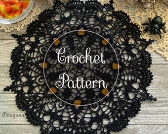Spooky Soiree Crochet Doily Pattern, PDF Digital Download, Halloween