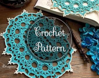 Wispweave Oval Crochet Doily Pattern, PDF Digital Download
