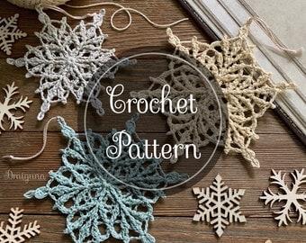 Lorewoven Snowflakes Crochet Pattern, 3 Crochet Snowflake Patterns,  PDF Digital Download