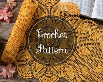 Sunspire Crochet Table Runner Pattern, PDF Digital Download