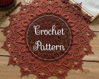 Flora Crochet Doily Pattern, PDF Digital Download