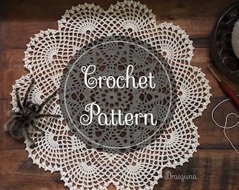 Sweet T's Doily Crochet Doily Pattern, PDF Digital Download