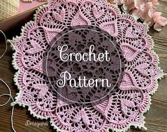 Sweetheart Soiree Crochet Doily Pattern, PDF Digital Download
