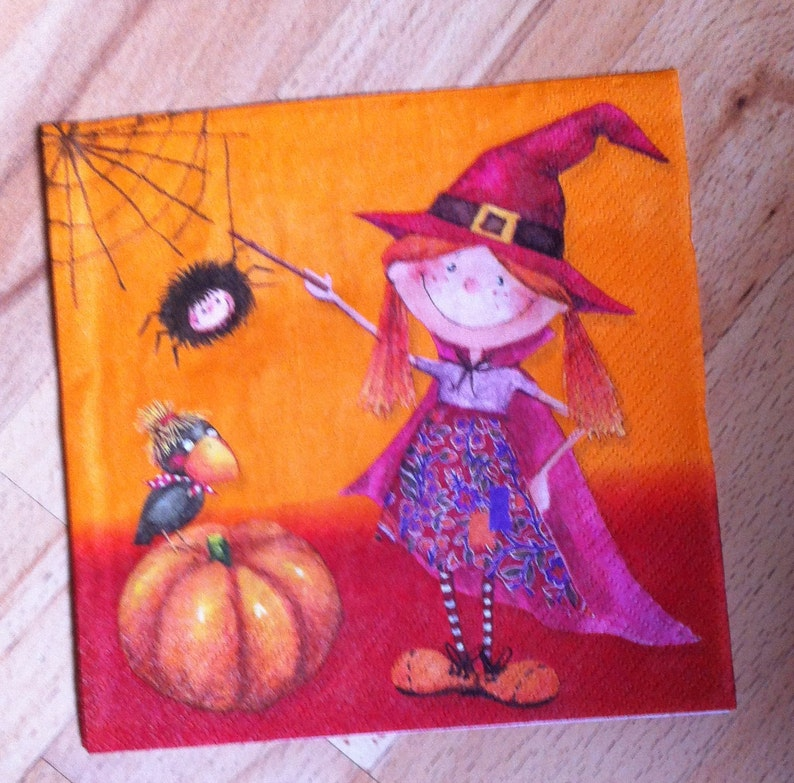 Halloween Witch Napkins Page Two