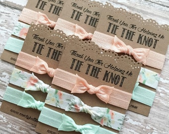 Thank You For Helping Me Tie The Knot, Bridesmaid Hair Ties, Bridal Shower Gift, Bridesmaid Favor, Bridesmaid Gift, Be My Bridesmaid