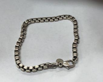 f07aae684 Vintage Nice Antique Designer Tiffany & Co. Sterling Silver 925 Venetian  Link Box Style Bracelet Size 7 1/2