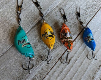 Full Sail Fishing Lure Set | Beer Bottle Cap Lure | Father's Day Gift | Fisherman Gift