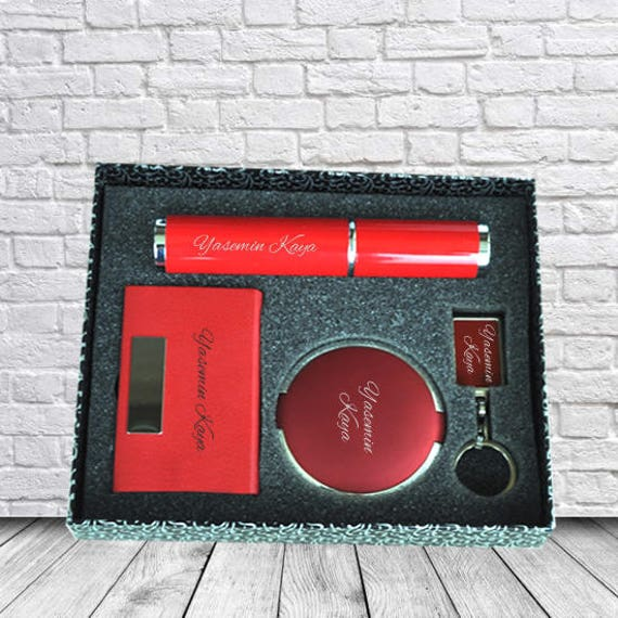 Personalized Pen Mirror Business Card Holder And Keychain Etsy