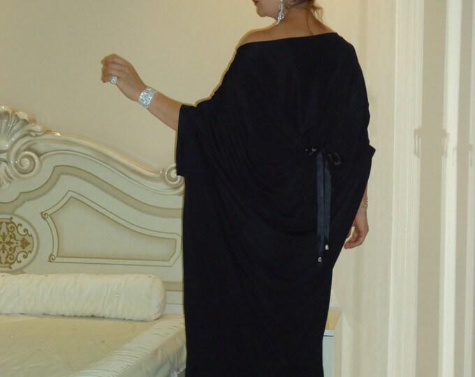 45c27caa250 Extravagant black dress Maxi dress Oversize dress Plus size dress Kaftan  Top Robe