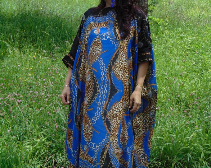 c6be9b1f41b8d Luxury Dress Royal blue Kaftan Abaya Kaftan Silk Kaftan Plus size