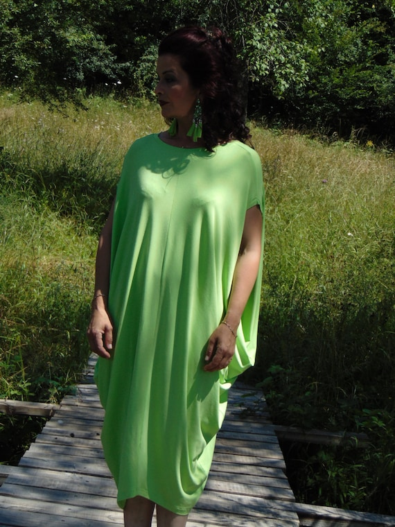 Draped dressOversize Dress Summer DRESSCover up dressPetrol DressCaftanMaxi dressPlus size dressDaywaer dressKaftanTeal dress