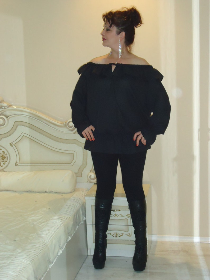 for every occasion to feel free  All sizes available Us Uk Eu Cotton blouse One size Plus size Oversized for every day