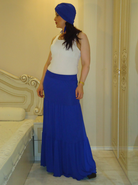b884fa77e9c97 Long boho skirt  Party skirts Royal blue maxi skirt Oversize skirt ...