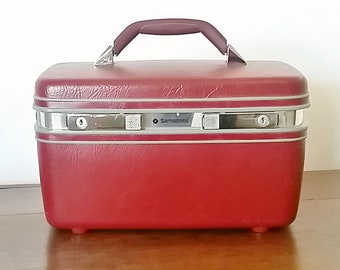 Train Case, Samsonite Train Case, Makeup Case,  Samsonite Luggage, Vintage Train Case, Retro Train Case, Samsonite Luggage