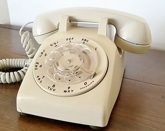 AT&T Rotary Phone, Rotary Desk Phone, Vintage Rotary Phone, Rotary Dial Telephone, Office Decor