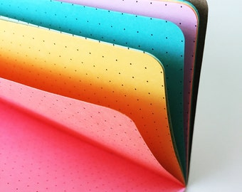MELON Traveler's Notebook Insert  - Choice of Patterns and 8 sizes