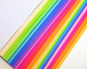 ULTIMATE RAINBOW  Planner Paper fits Happy Planner & Levenger Circa size Planners