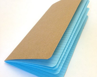 WIDE LINED Traveler's Notebook Insert  - Choice of 22 colors and 8 sizes