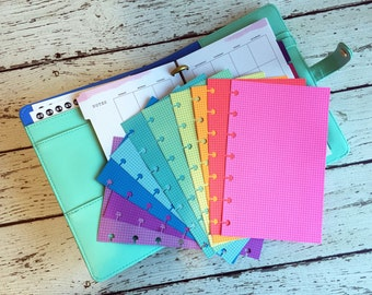 SPRING RAINBOW Planner Paper fits Happy Planner & Levenger Circa Planners