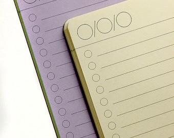 BULLET Journal (One Column)  Traveler's Notebook Insert   22 Colors - 8 sizes