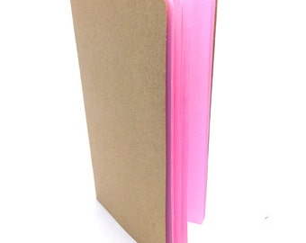 BLANK Traveler's Notebook Insert   - Choice of 22 colors and 8 sizes