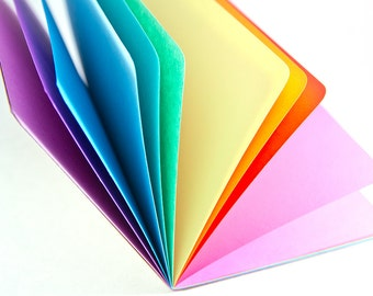 SPRING RAINBOW Traveler's Notebook Insert  - Choice of 8 sizes